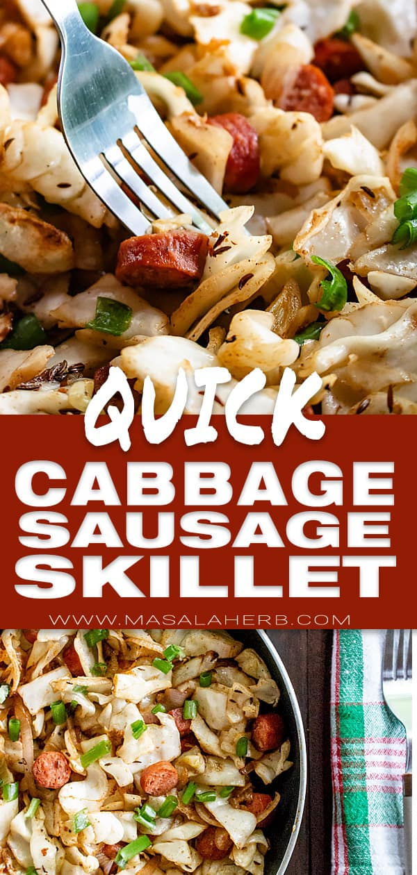 Quick Cabbage Sausage Skillet