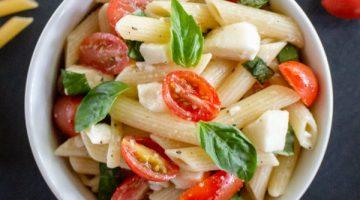 Easy Caprese Pasta Salad [Summer Salad]