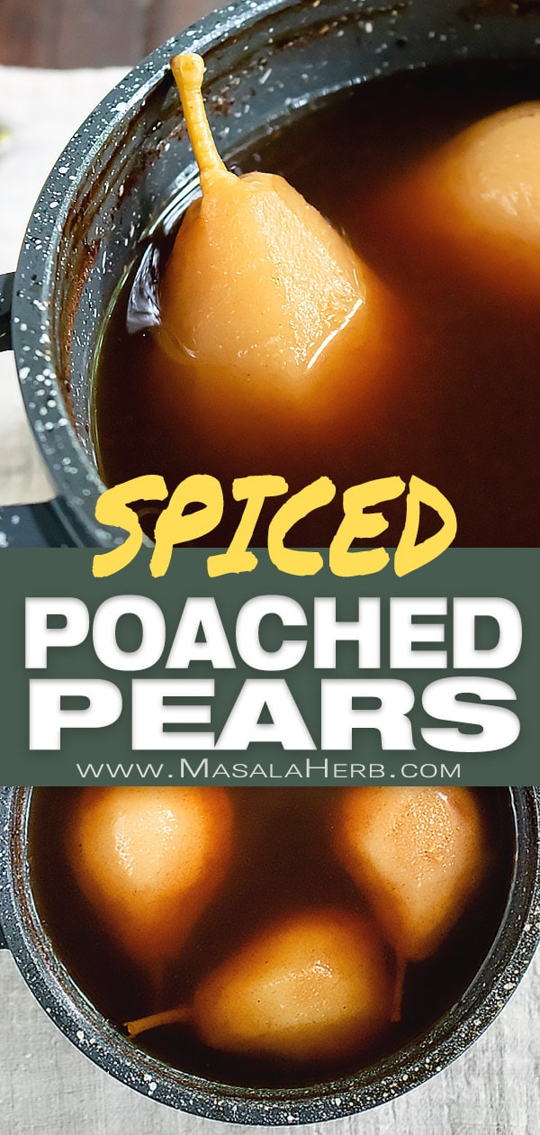 5 Spice Poached Pears - How to Poach Pears