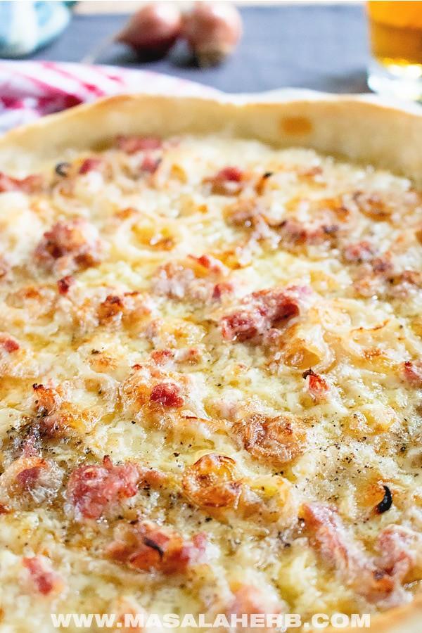 Flammkuchen Recipe - Alsatian Tarte Flambée Pizza [+Video]