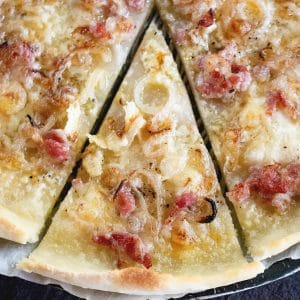 Flammkuchen Recipe - Alsatian Tarte Flambée Pizza [+Video]