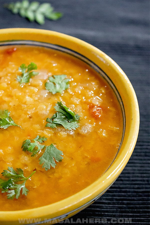 Easy Indian Lentil Soup Recipe [Vegan]