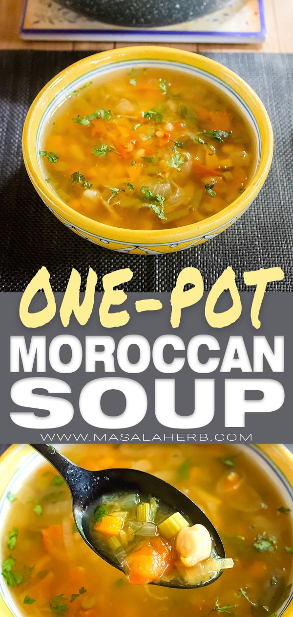 Spicy Moroccan Lentil Soup - Veg Harira Recipe [+Video]