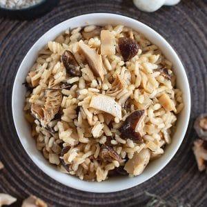 Easy Mushroom Risotto Recipe with Mixed Mushrooms