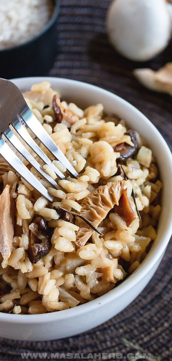 Easy Mushroom Risotto Recipe with Mixed Mushrooms