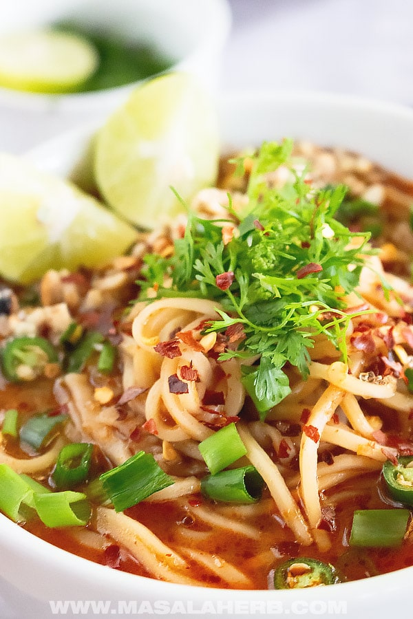 Spicy Thai Noodle Soup Recipe
