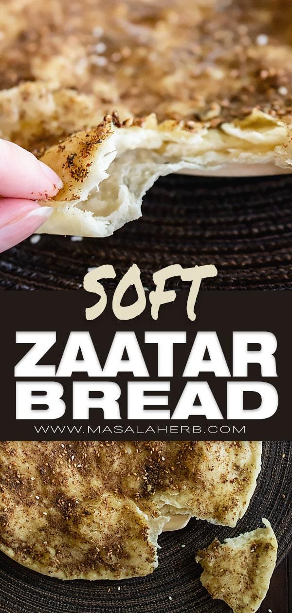 Lebanese Zaatar Bread - Manakish, Manoushe Flatbread Recipe