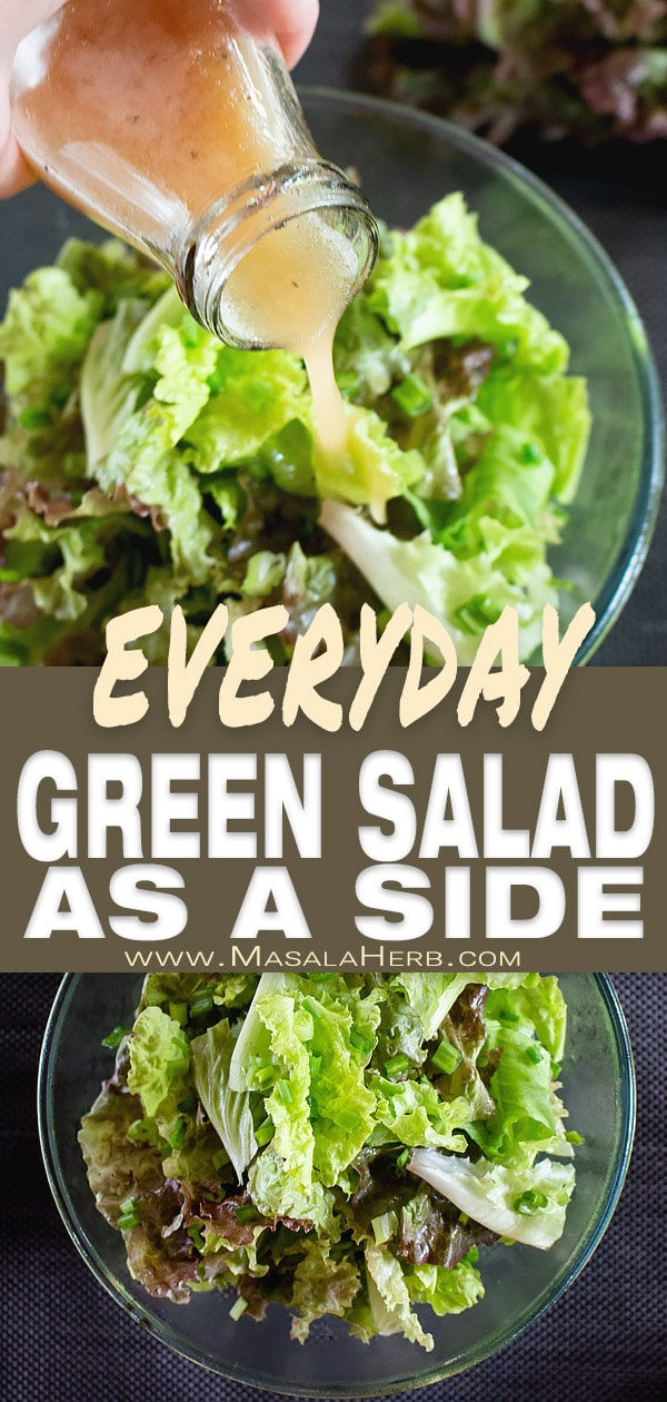 Everyday Green Salad [Simple Side Salad]