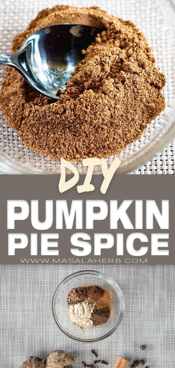 Homemade Pumpkin Pie Spice Mix [+Recipe ideas]