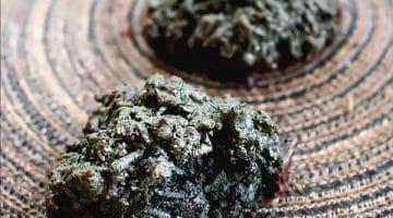 Black Coconut Macaroons with Chocolate [Halloween Cookies]