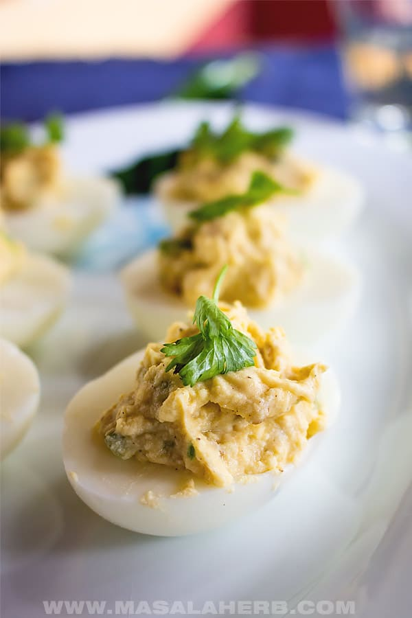 Spicy Jalapeño Deviled Eggs