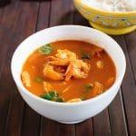 Thai Red Curry Shrimp Recipe with Coconut Milk