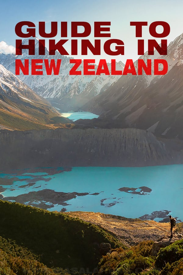 guide to hiking in new zealand pin