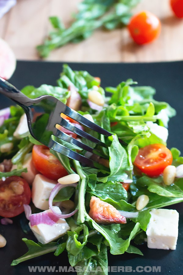 Arugula Salad with Feta and simple Dressing