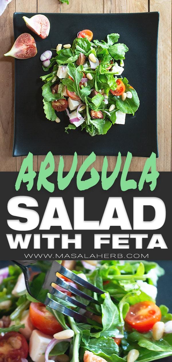 Arugula Salad with Feta and simple Dressing