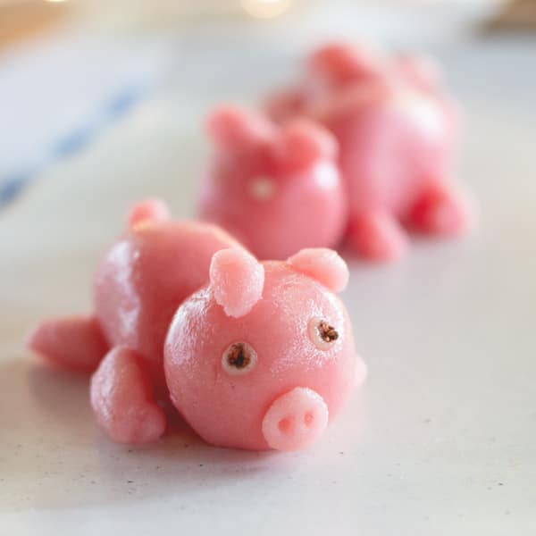 Good Luck Marzipan Pig Candy