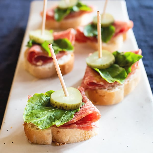 Quick Salami Appetizer