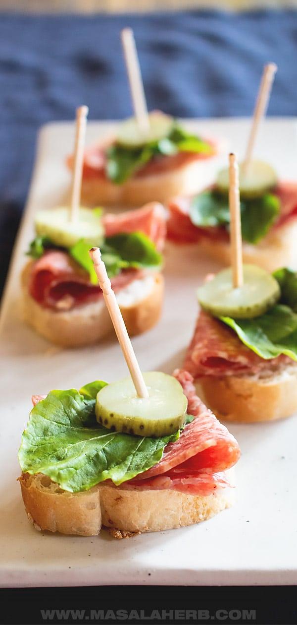 Quick Salami Appetizer