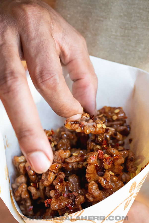 Spiced Roasted Walnuts with Honey Recipe