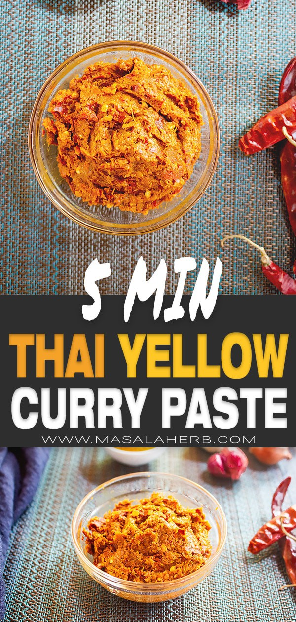 5-Minute Thai Yellow Curry Paste Recipe