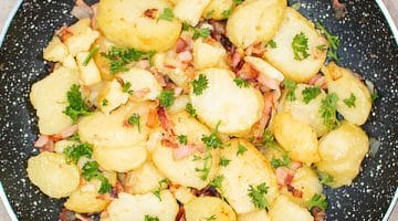 Bratkartoffeln with Bacon - German Fries Recipe