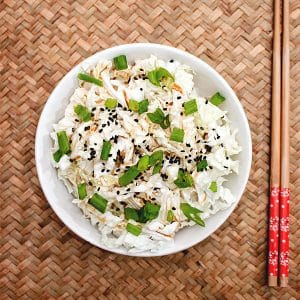 Quick Japanese Cabbage Salad & Dressing