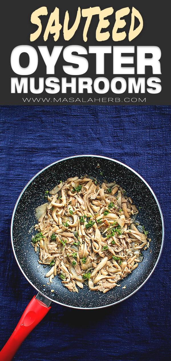Sauteed Oyster Mushrooms pin 1