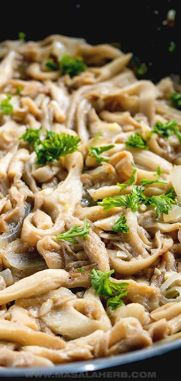 Sauteed Oyster Mushrooms pin 1