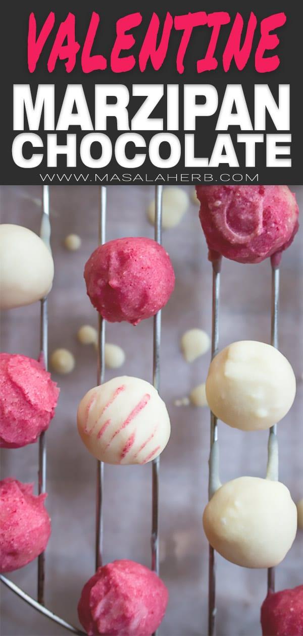Valentine's marzipan chocolate Balls
