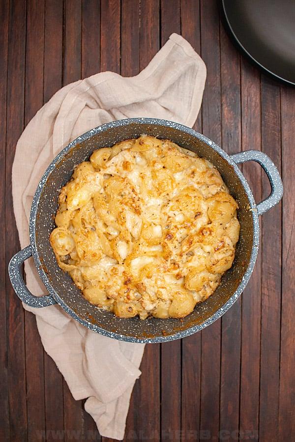 Cheesy Buffalo Chicken Pasta Bake Recipe