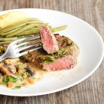 One Pan Steak and Mushroom Sauce