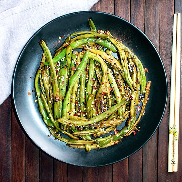 Chinese Szechuan Dry Fried Green Beans Recipe