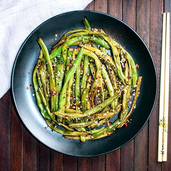 Chinese Szechuan Dry Fried Green Beans Recipe