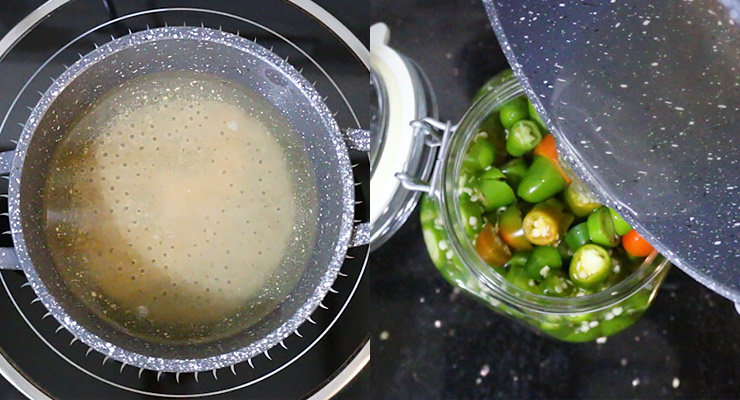 bring brine to boil and pour over jalapenos in the jar. close jar