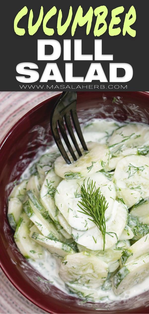 German Cucumber Dill Salad [Gurkensalat]