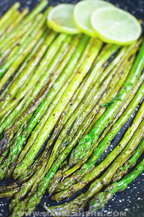 Pan Sauteed Asparagus with Balsamic Vinegar