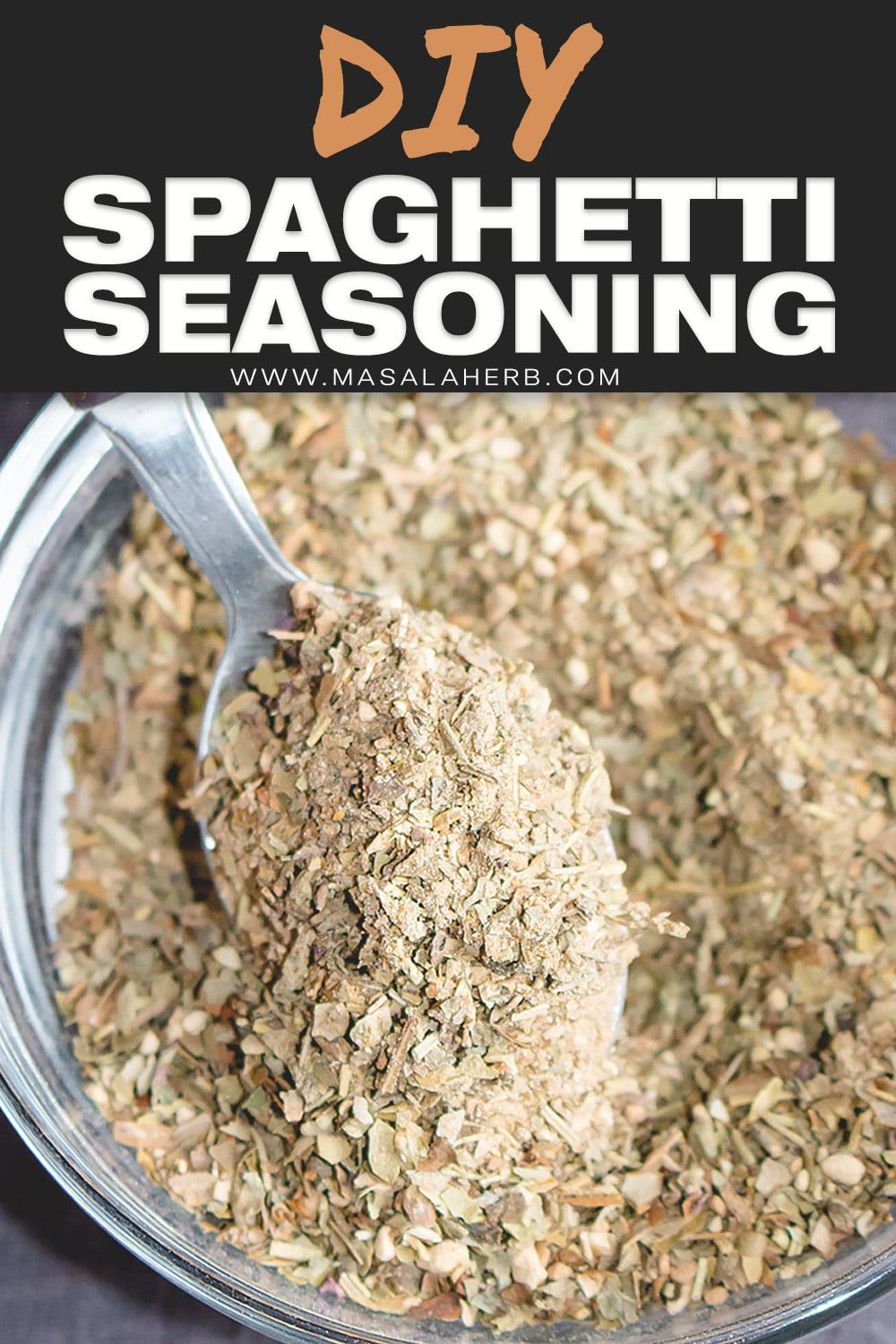 Spaghetti Seasoning Mix