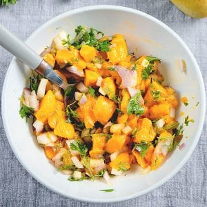 5 ingredient Mango Salsa