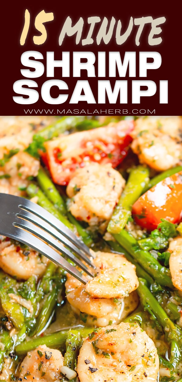 Shrimp Scampi with Asparagus and Tomato