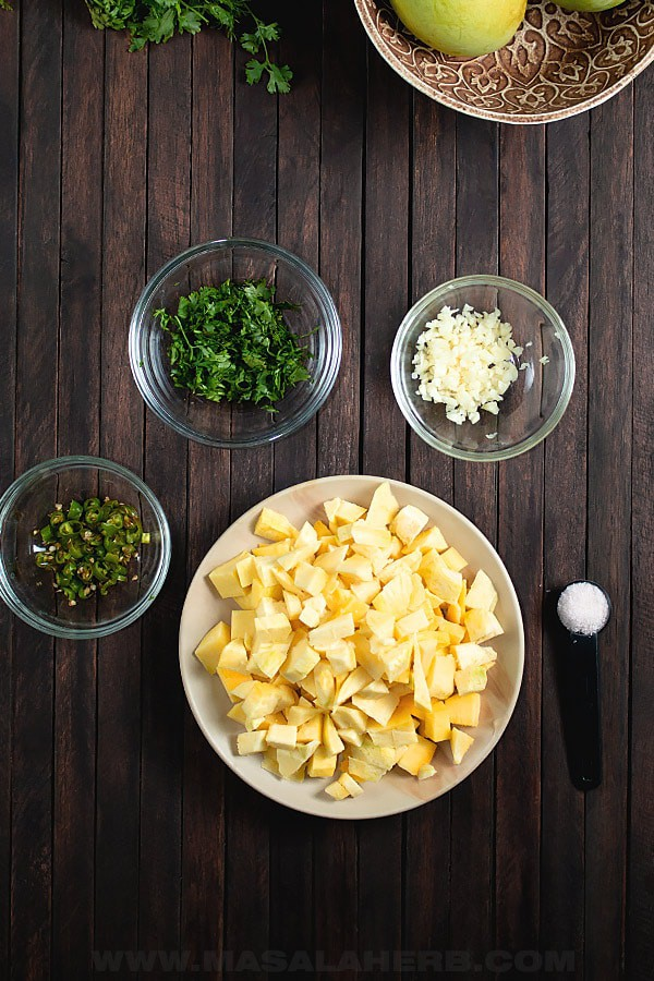 ingredients for trinidad mango chow