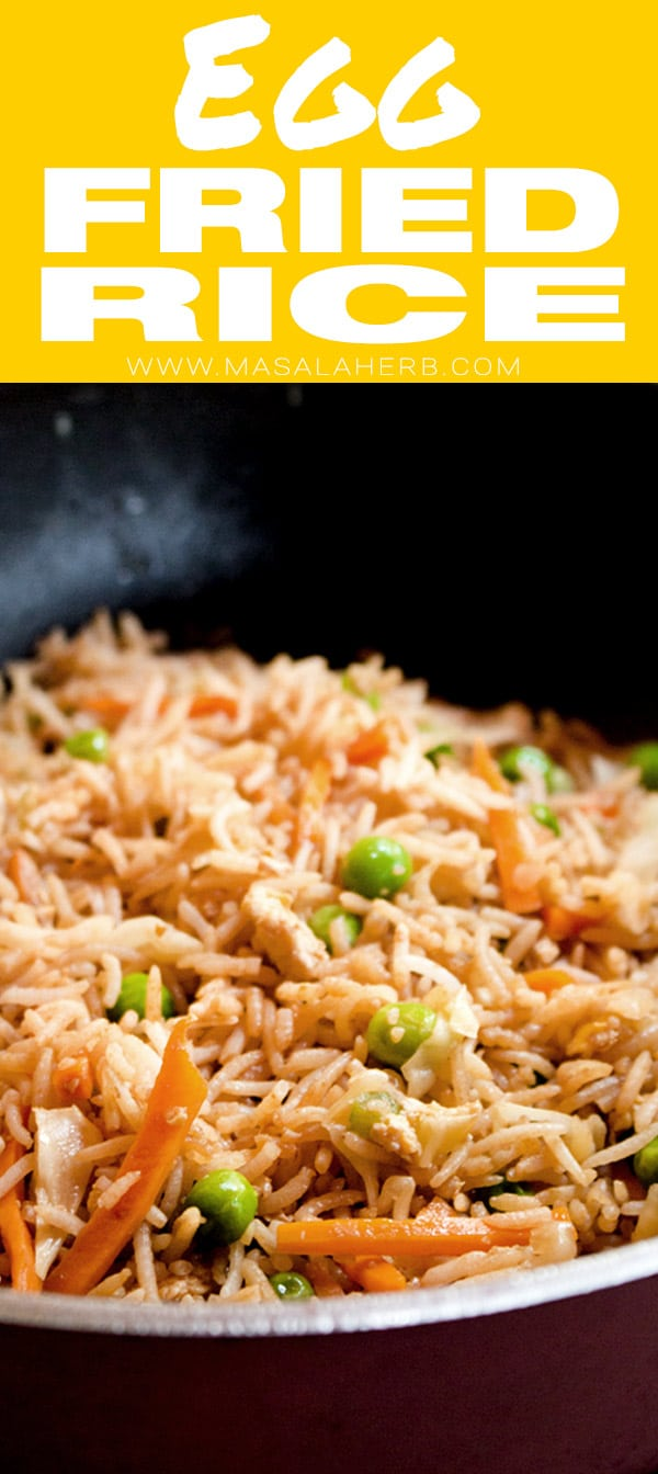 Easy Egg Fried Rice Recipe pin image