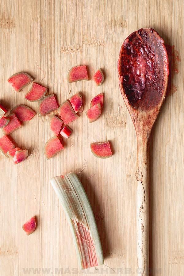 Homemade Rhubarb Sauce