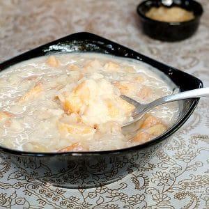 Rice Cantaloupe Yogurt Breakfast Bowl