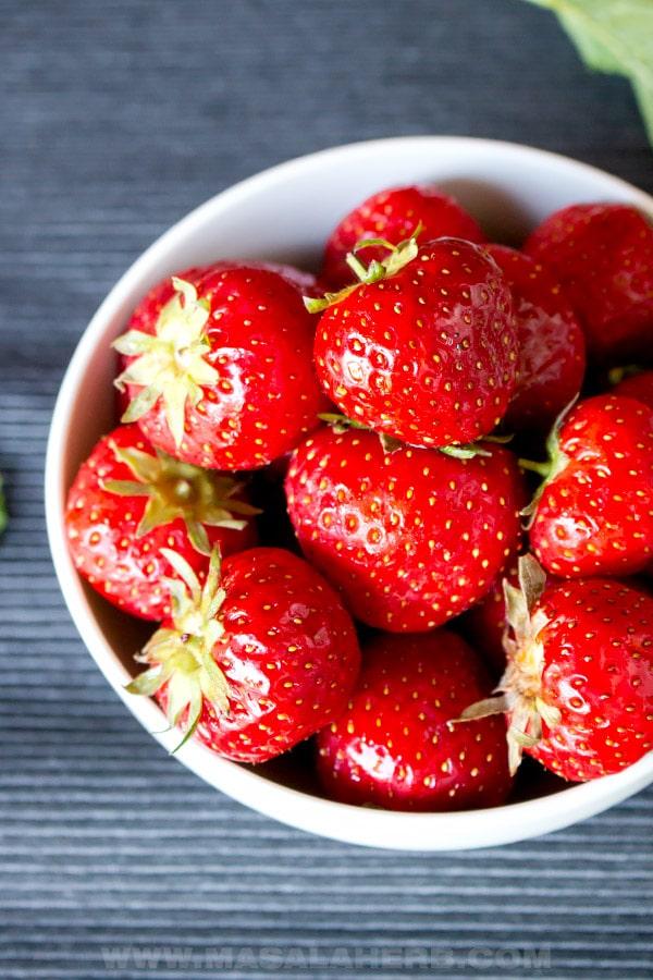 Garden fresh Strawberries in a bowl