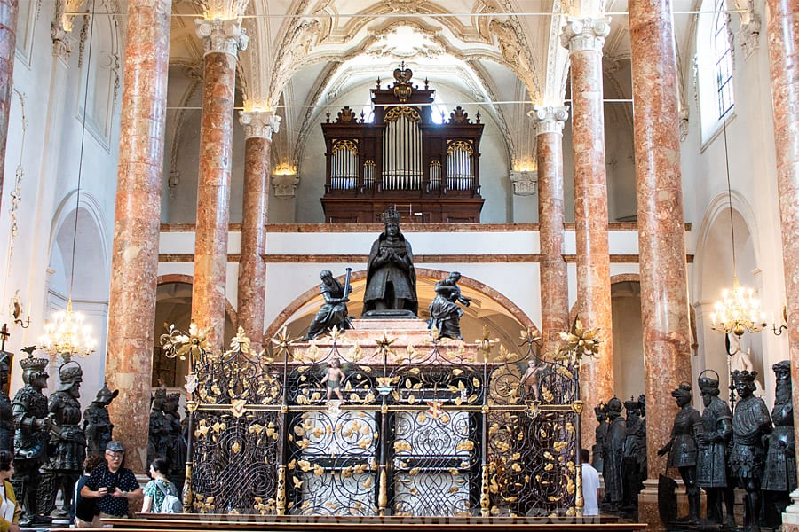 tomb of Maximilian I Hofkirche innsbruck
