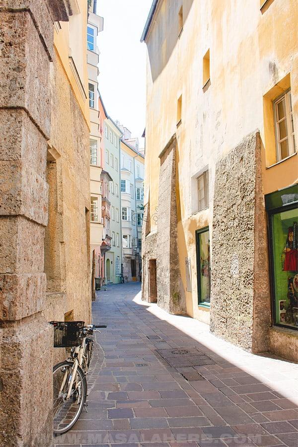 Innsbruck old city alleys