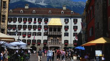 Innsbruck old city golden roof