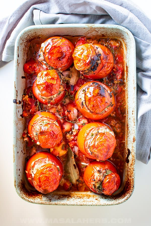 Meat Stuffed Tomatoes Recipe