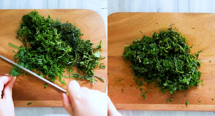 cut hers for Herb Compound Butter