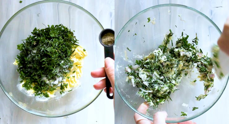 combine Herb Compound Butter